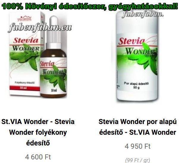 St.VIA Wonder folyékony édesítő