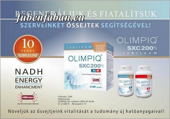 ŐSSEJT NÖVELŐ KAPSZULA: OLIMPIQ SXC - Újabb Magyar kutatás eredménye. Már Magyarországon is elérhető!