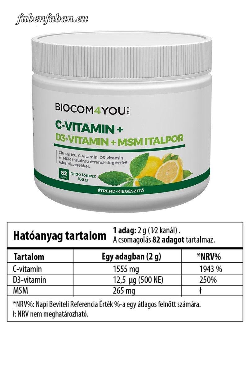 C-Vitamin+D3-Vitamin+MSM Italpor